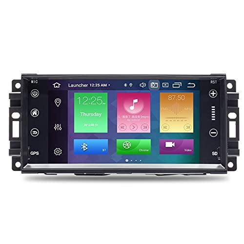 Per Jeep Wrangler JK Dodge Ram Challenger Chrysler Android 10.0 Octa Core 4GB RAM 64GB ROM 7' Autoradio Stereo GPS Multimedia Player Supporto Car Auto Play/TPMS/OBD/4G WiFi/DAB