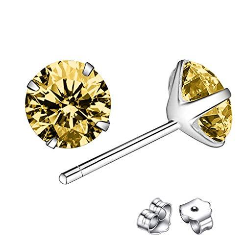 jieGorge Earrings for Women , Classic Sterling Silver Stud Earrings, Hypoallergenic Earrings , Gifts for Women and Girls (RG4)