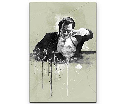Paul Sinus Art Pulp Fiction John Travolta 90x60cm Splash Art Wandbild auf Leinwand naturfarbend