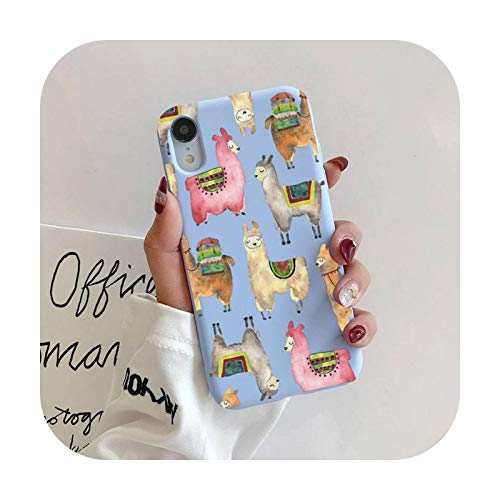 Llama - Funda para iPhone 11 Pro Max X XS Max XR Candy Color suave para iPhone 7 8 6 6S Plus Funda Cases-a5-para 7plus u 8plus