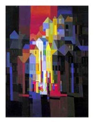 Germanposters Ton Schulten Poster Kunstdruck Town by Night
