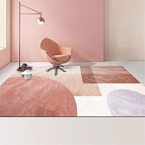 La Alfombra decoración habitación Juvenil Rojo Blanco Alfombra geométrica Antideslizante Suave salón Sucio decoración habitación Alfombra habitacion Infantil 200*300cm