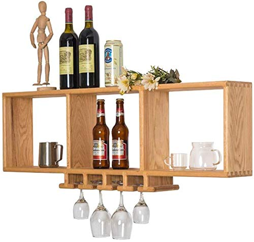 HJXSXHZ366 Estantería de Vino Estante del Vino - Botellas de Montaje en Pared - Pared de Cristal montados bastidores de Vino - / Estilo Familiar Bar es Simple, 90 * 15 * 38 cm Estante de Vino pequeño
