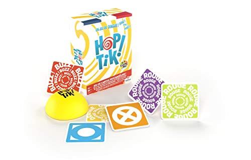 HOP TiK ! par Color Addict - jeu de cartes coloré et de rapidité avec buzzer, pour ambiance fun - Jeux de société famille, amis, enfant - couleurs et mots