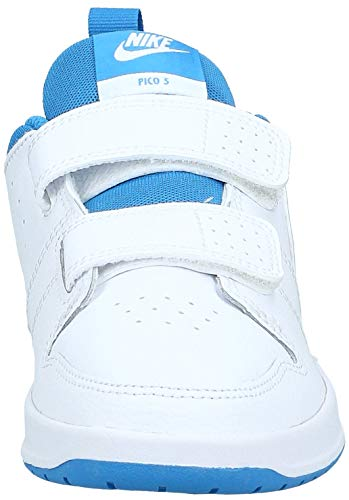 Nike Pico 5, Zapatillas de Tenis Unisex niño, Multicolor (White/Lt Photo Blue 103), 33 EU