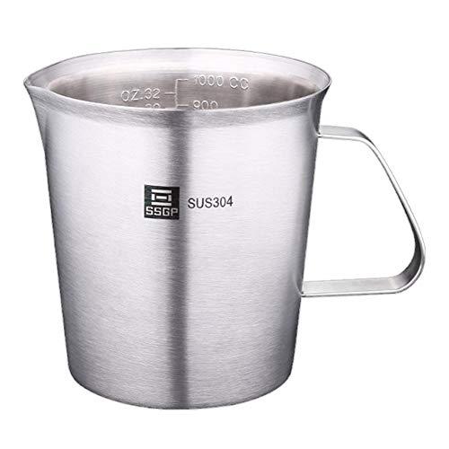 mooderff maatbeker, 500ml roestvrij staal milk pitcher koffiemok met weegschaal bakgereedschap
