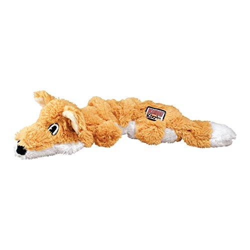 KONG – Scrunch Knots Fox – Innere Geknotete Seile und Minimale Füllung für Weniger Unordnung – Für Kleine/Mittelgroße Hunde