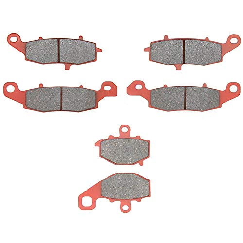 MEXITAL Pastiglie freno Ceramica organico Anteriori + Posteriore per KLE 650 (07-14)/ER6n ER6f ER650 EX650 (06-16)/Z750 ZR750 (04-05)/Z750S(05-07)/GPZ1100/GPX1100 ZX1100 (95-98)/ZRX400 (ZR400E)(96)