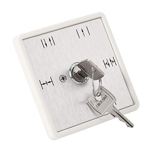 Interruptor de llave de cinco posiciones, control de acceso de puerta deslizante automático resistente a la intemperie y al polvo, selección de 5 funciones encendido-apagado, para control de acceso au