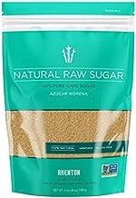 Akenton Natural Raw Cane Sugar, 3 Pound Resealable Bag   100% Natural, Unprocessed, Unbleached, Unrefined Sugar   Gluten-Free, Vegan, Kosher   Non-GMO Project Verified