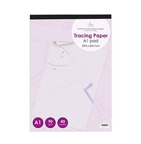A1 Tracing Papierauflage, professionelles Sortiment, 40 Blatt, 90gsm Papier