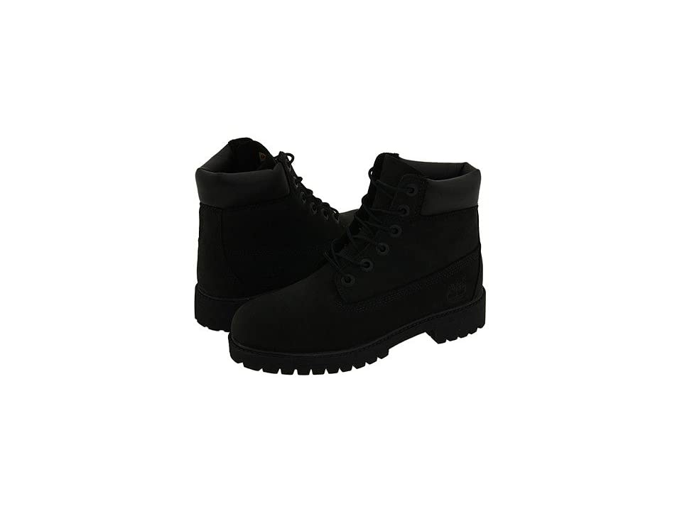 Timberland Kids 6 Premium Waterproof Boot Core (Big Kid) (Black Nubuck) Boys Shoes
