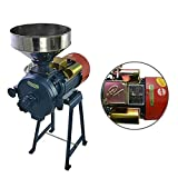 LWestine 110V Electric Feed/Flour Mill Cereals Grinder Include Funnel, Grain Corn Wheat Wet&Dry, Grinding Seeds for Animal Feed