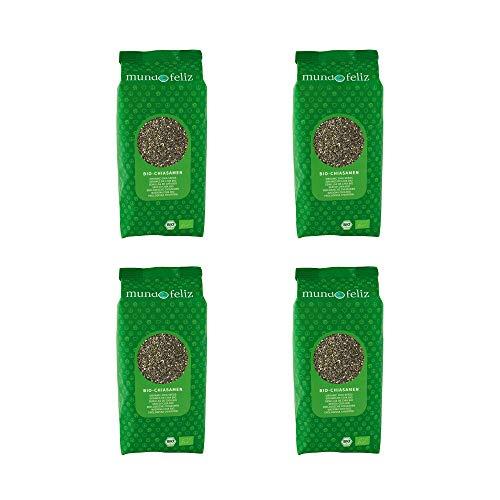 Mundo Feliz - 4paquets de graines de chia bio, 500g