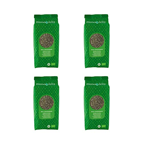 Mundo Feliz Organic Chia Seeds, 500 g (4-Pack)