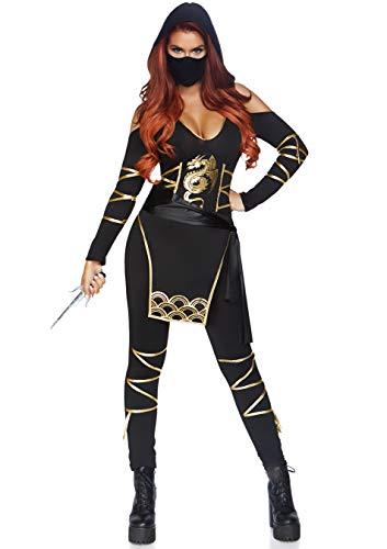 Leg Avenue 3Pezzi Set Stealth Ninja, Donna Carnevale Costume di Carnevale