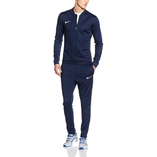 Nike Academy Knit - Tuta da calcio Uomo, Blu (Ossidiana/Deep Blu Royal/Bianco), Taglia S