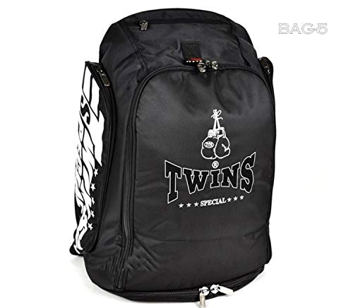 Twins Special Backpack Gym Bag Bag-5 Black Boxing Equipment Muay Thai MMA K1 Kickboxing