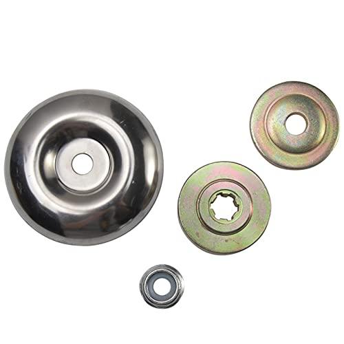 GCDN 4 unids/set Kit de fijación de tuerca de hoja de engranajes de metal de repuesto,Herramientas eléctricas Piezas de repuesto Cortacéspedes Accesorios