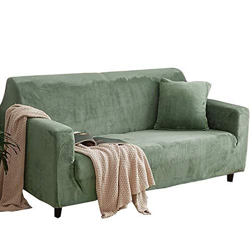 YuuHeeER 1 funda antideslizante elástica para sofá de 3 plazas, color verde