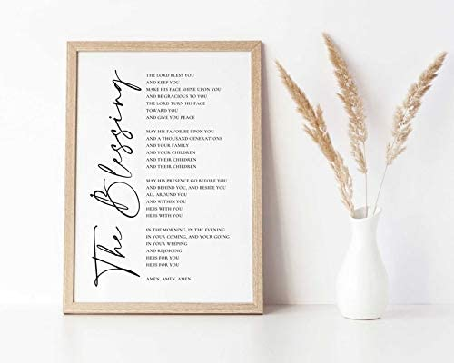 Dwi24isty Farmhouse Frame Wood Sign Elevation Blessing quality assurance Wors The Max 64% OFF