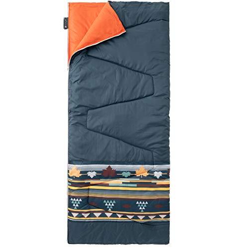 ロゴス(LOGOS)丸洗い寝袋リバーシブル・5(ダークグリーンナバホ)72600012ネイビー(約)幅80×奥行190cm