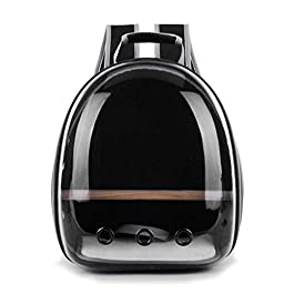 Ccgdgft Transparent Capsule Space Pet Carrier Backpack for Parrot Bird Travel Bag -Breathable 360deg; Sightseeing