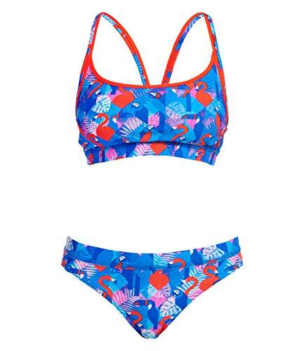 Funkita Damen Bikini Set Sportbikini Sports Top Two Piece Flaming Vegas, Größe:34