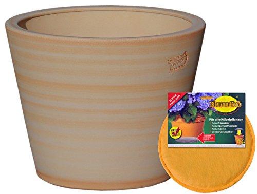 Hentke keramische spaarset: plantenbak + flowerpad Ø 35 x 29 cm, terra-henna, 342.035.57 bloembakken voor binnen en buiten - Made in Germany