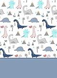 TrapposHome Juego de Sabanas Infantil Estampadas Algodon - Poliester. 3 Piezas, Funda Almohada, Bajera Ajustable y Encimera. Calidad y Diseño. Suave y Resistente. Dinosaurios Dinos Azul. Cama 90 cm