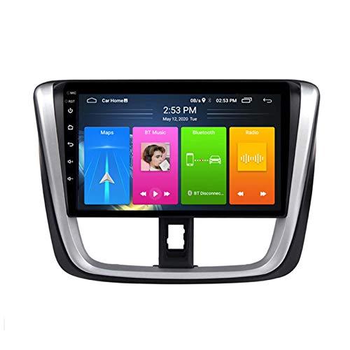 Wanqi 10,1 Pulgadas Android10 Coche Multimedia GPS Player Radio para Toyota Vios 2016 2017 Estéreo SWC Pantalla Dividida WiFi Sin DVD 2DIN(Color:4G+WiFi:2+32G)