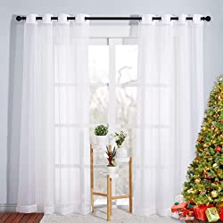 top rated Nicetown bedroom curtains – solid boiled panels with home decor ring plates (2,… 2021