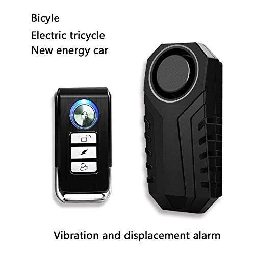 NineLeaf 1 Set Wireless Motorcycle Bicycle Bike Anti-Theft Burglar Vibration Security Alarm Waterproof Super Loud 113dB Remote Control Bell