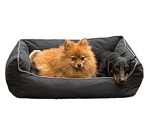 tierxpert Hermes, lavable Panier pour chien Panier pour chien Coussin pour chien avec housse de coussin pour chien Panier pour chien & chat, antidérapants réversible