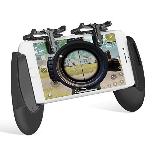 Kit de Controlador de Juego Móvil, Keten L1R1 Teclas para Disparar, Grip para Gaming en Móvil, Gamepad para PUBG/Knives out/Rules of Survival/Fortnite para Android, iPhone(1 Par+1 Gamepad)