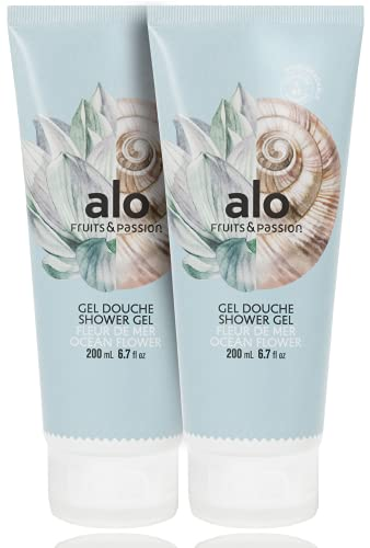 [Fruits and Passion] ALO Ocean Flower Organic and Hydrating Body Wash and Shower Gel Cleanser Two Piece Set - 250 mL