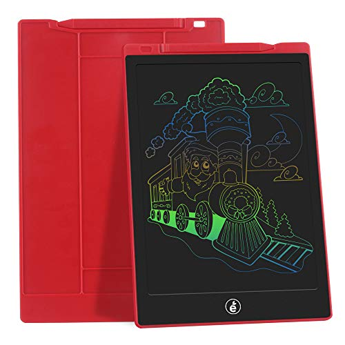 JefDiee Kids Drawing Boards Writing Tablet, 10 Inch Colorful Screen Electronic Learning and Education Drawing Pads Doodle and Scribbler Board Gifts for Girls Boys (Red)