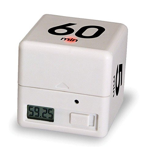 Moent Réveil Minuterie Alarm Cube Numérique 5, 15, 30, 60 Minutes Gestion du Temps Cuisine Blanche Kitchen Salle à Manger et Bar
