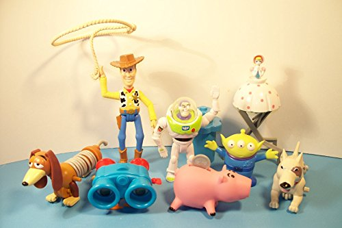 Set of 8, Burger King 1996 Toy Story (Now on Video) Kids Club
