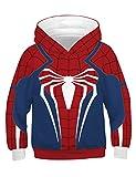 PIZOFF Jungen Mädchen Hoodie 3D Print Kapuzenpullover Sweatshirts Mit Kapuze Pullover Superhero...