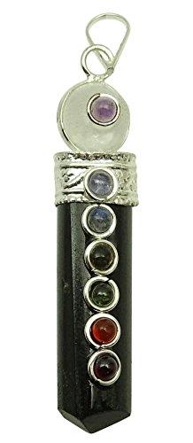 Harmonize Don Espiritual turmalina Piedra Lápiz Pendiente de la Varita 7 de Equilibrio de Chakra curativo de Cristal