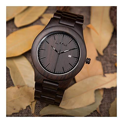 Orologio da uomo Reloj de Madera - Moda Industrial, Reloj Deportivo de Cuarzo for Hombres, Bueno for la Salud, Calidez, Romance, for los Amantes, Relojes de Pareja (Color : Women)