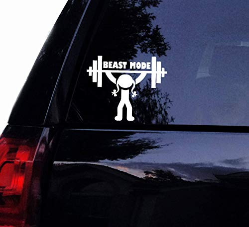 H421ld Calcomanía para levantamiento de pesas de Lady Beast Mode, vinilo para niña, gimnasio, fitness, levantamiento de pesas, entrenamiento para coche, adhesivo para la pared de la ventana del coche