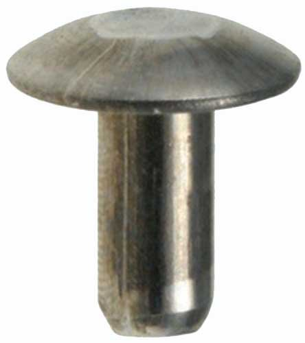 100 3/16 Brazier Head Solid Aluminum Rivets 3/8 Length Clipsandfasteners Inc