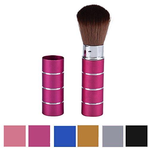 Make-Up-Pinsel-Set, Metall-Einziehbare BüRste 6 Farben, Multifunktions-RougebüRste Nase BüRste GesichtsbüRste Make-UpbüRste Pinselset