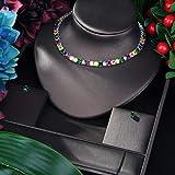 Florwesr AAA CUBICA Zirconia 2 UNIDS JOYERO DE JOYERO Forme Forma Cuadrada Collar Colgante Y Conjuntos De Pendientes para Mujer (Color : Silver)