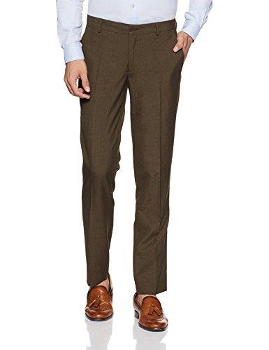 John Players Men's Formal Trousers (8907482046132_JFMWTRS170051002_30W x 36L_Tobacco Brown)