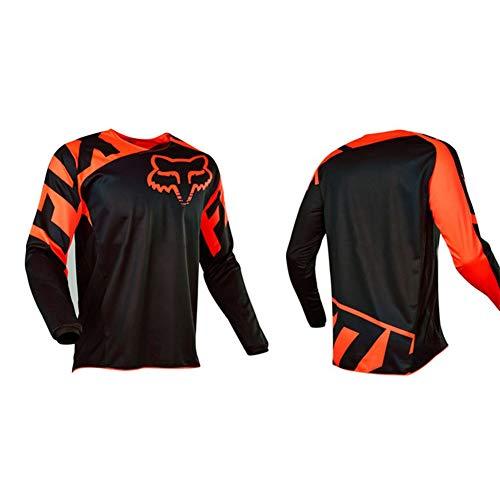 HFJLL Traje de Descenso al Aire Libre - Mountain Bike Motocross Jersey Camiseta de Manga Larga,No.1,M