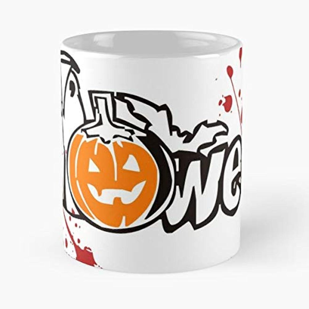 Halloween Spider Bat Pumpkin - 11 Oz Coffee Mugs Unique Ceramic Novelty Cup, The Best Gift For Halloween.