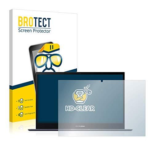 BROTECT Schutzfolie kompatibel mit Asus VivoBook Flip 14 TM420IA-EC069T klare Bildschirmschutz-Folie